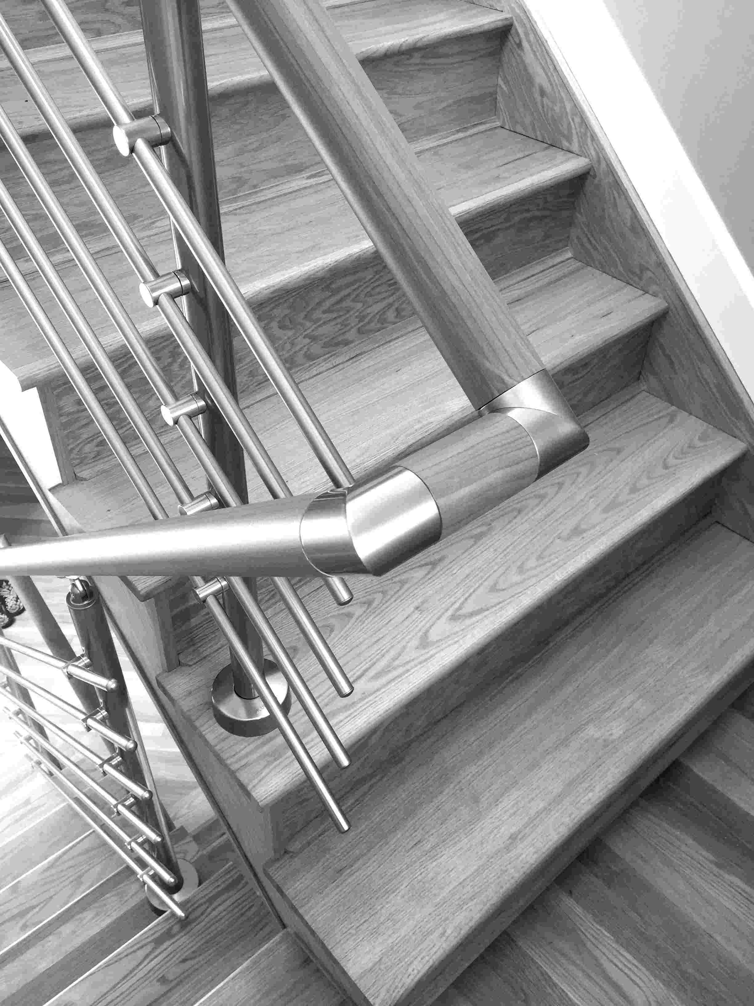 Interior Railing System and handrail Dark Wood